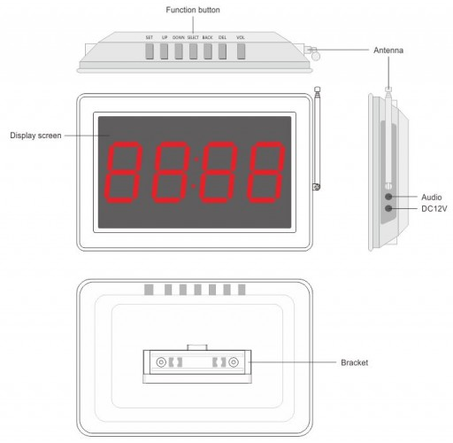 Smart 46S - четырехзначное табло вызова персонала