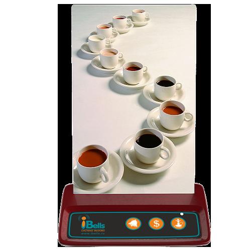 iBells 316К - кнопка для вызова кальянщика и официанта (вишня)