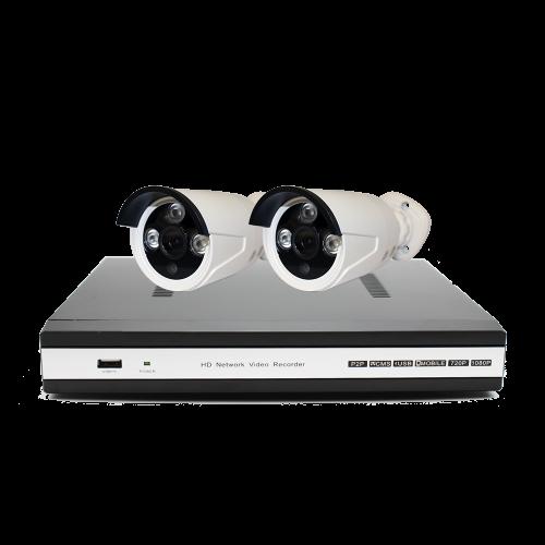 Комплект E2: 2 камеры 720p + ресивер проводной