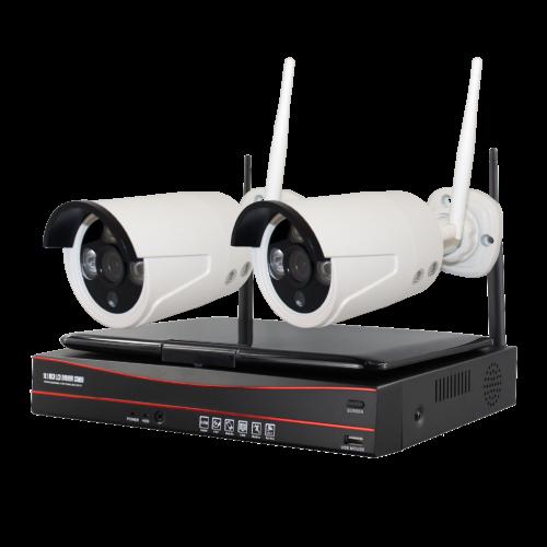 Комплект WS2: 2 Wi-Fi камеры + ресивер с экраном