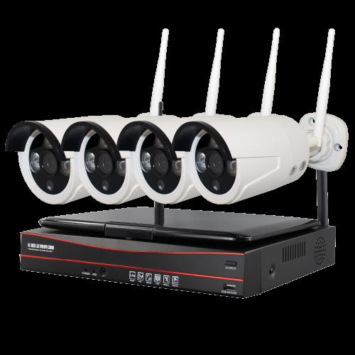 Комплект WS4: 4 Wi-Fi камеры  + ресивер с экраном