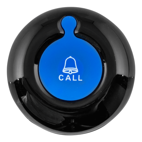 K-01 влагозащищённая кнопка вызова (чёрный/синий)