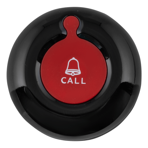 K-01 влагозащищённая кнопка вызова (чёрный/красный)