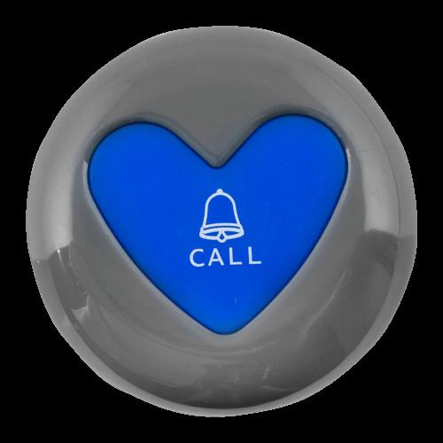 K-U1 влагозащищённая кнопка вызова (серый/синий)