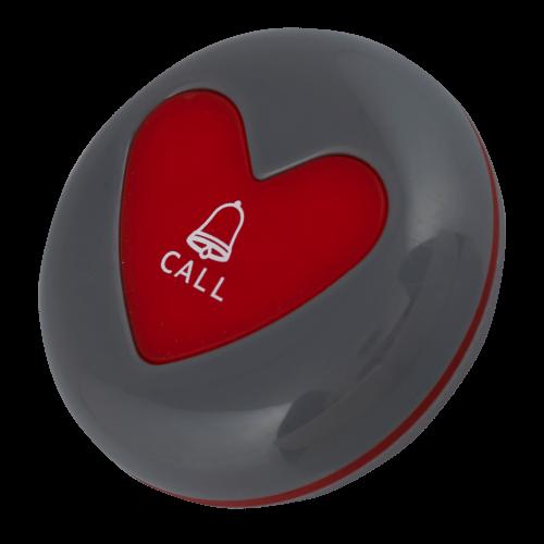 K-U1 влагозащищённая кнопка вызова (серый/красный)