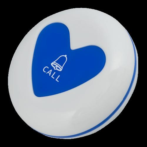 K-U1 влагозащищённая кнопка вызова (белый/синий)