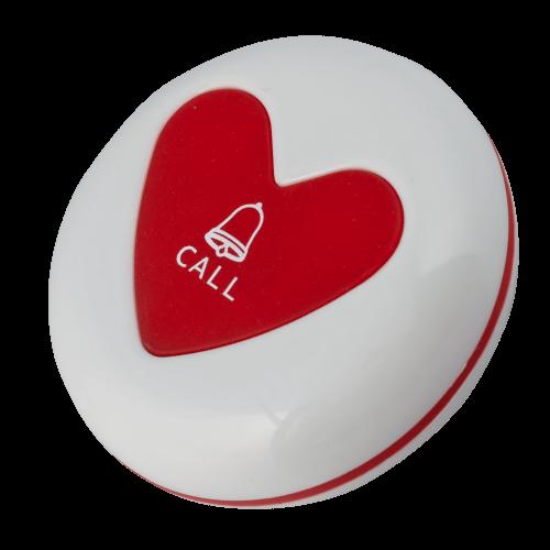 K-U1 влагозащищённая кнопка вызова (белый/красный)